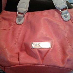 Salmon color Betsey Johnson bag